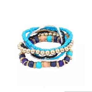 Jewelry - Beautiful 7 piece beaded bracelet